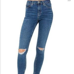 Nordstrom ripped knee Jamie high waisted jeans